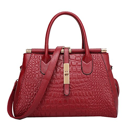 Bolsos Yy.f Grandes Nombres De La Moda Bolsos De Cocodrilo Bolso De Cuero La Sra Grandes Bolsas Bolsas Multicolores Red