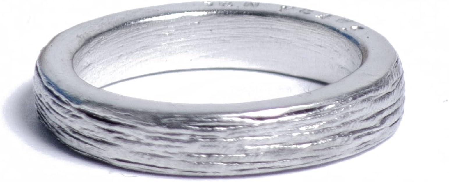 Anello da donna in metallo con iscrizione per il decimo anniversario