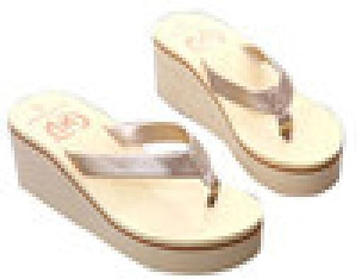 Sandalias y Chancletas de Plataforma para Mujer, QinMM Playa Zapatos de Verano (36, Dorado): Amazon.es: Zapatos y complementos