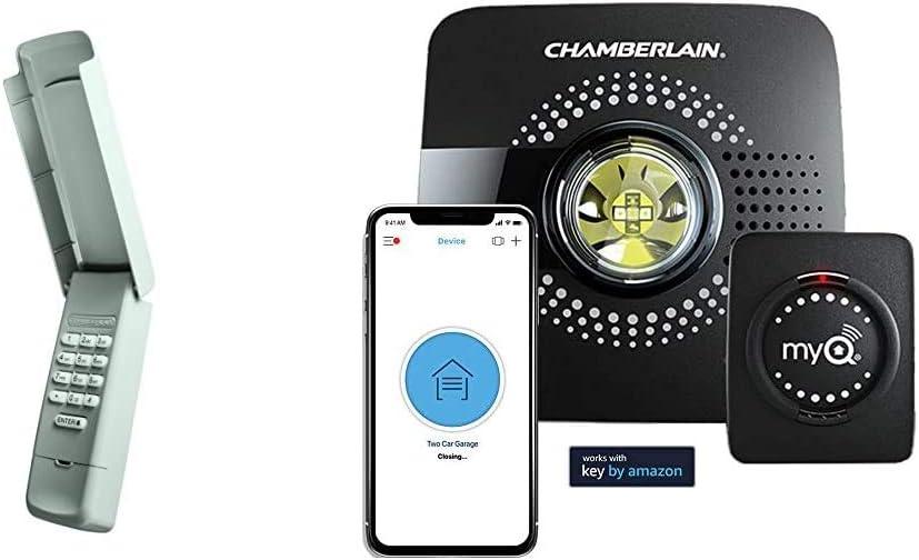 Chamberlain/LiftMaster/Craftsman 940EV-P2 Garage Door Opener Keyless Entry Keypad, Security +2.0 Com with myQ Smart Garage Door Opener Chamberlain MYQ-G0301