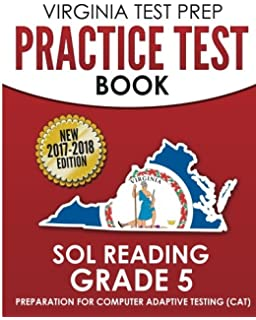 Amazon virginia test prep practice test book sol reading grade virginia test prep practice test book sol reading grade 5 preparation for computer adaptive testing fandeluxe Images