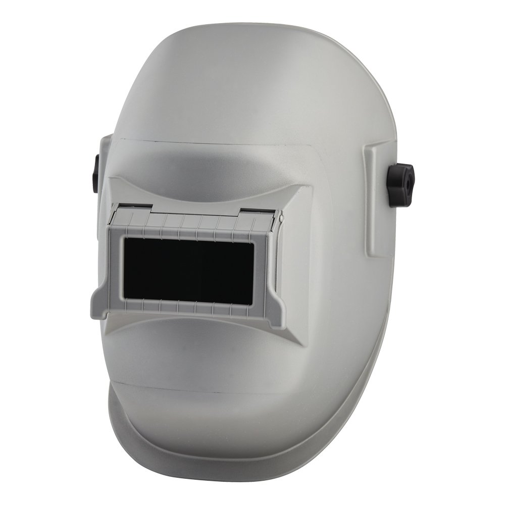 Sellstrom 29411 Nylon Super Kool Silver Coated Welding Helmet with Silver Coated 4-1/4'' Width x 2'' Height Sel-Snap Lift Front