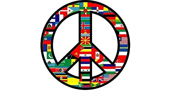 PEACE SIGN AMERICAN FLAG BUMPER STICKER LAPTOP STICKER TOOLBOX STICKER
