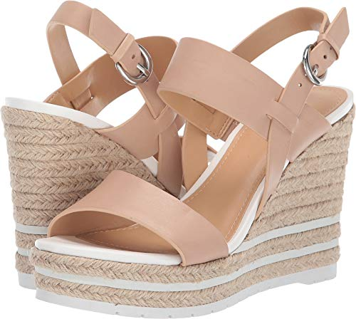 Nine West Women's wnALIVIA Wedge Sandal, Camel, 8 M US (Nine Woman Shoes 8 Wedge West)
