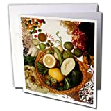 3dRose TDSwhite – Farm and Food - Food Healthy Fruits Vegetables Basket - 6 Greeting Cards with Envelopes (gc_285155_1)