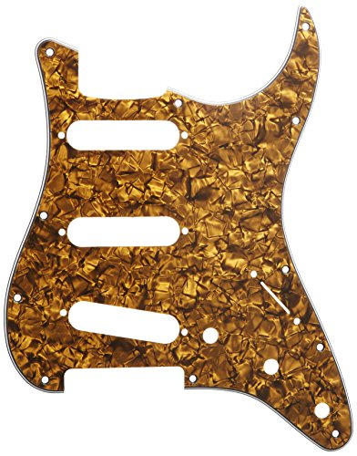 D'Andrea Strat Pickguards for Electric Guitar, Gold Pearl