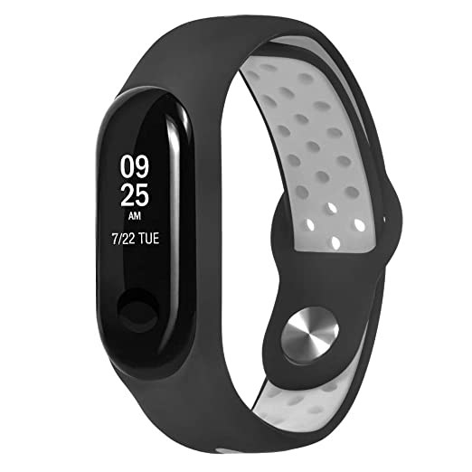 Correa para Xiaomi Mi Band 3,MADROD Reemplazo Ventilate Pulsera Deportiva Suave Correa de Reloj para Pulsera Xiaomi Mi Band 3 (Gris): Amazon.es: Relojes