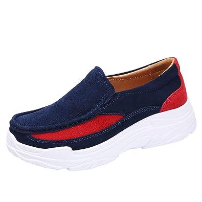 Zapatillas Deportivas Mujer💗 Btruely Zapatos de Air Cordones Zapatillas de Running Fitness Sneakers Respirable Negro Rojo Azul Gris 35-42: Amazon.es: ...