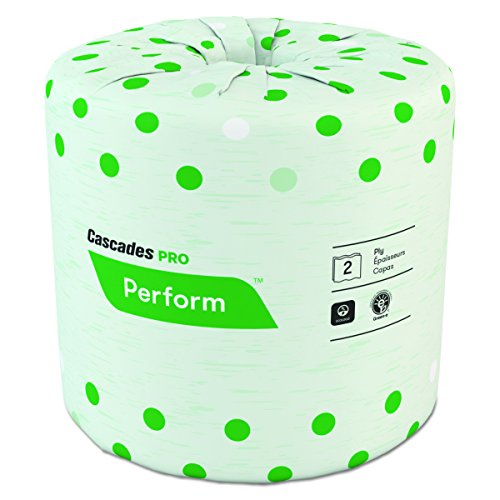 Cascades B340 Standard Bathroom Tissue, 2-Ply, 4 x 3 1/2, White, 336 Sheets per Roll (Case of 48 Rolls)n ()