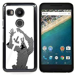 - Iron Sword Man Creature Comic Cartoon Hero - - Snap-On Rugged Hard Cover Case Funny HouseFOR LG Google Nexus 5X