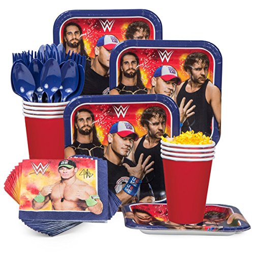 WWE Party Supplies Standard Kit (Serves 8)]()