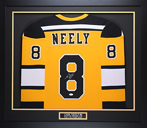 Cam Neely Autographed Yellow Boston Bruins Jersey - Beautifully Matted and Framed - Hand Signed By Cam Neely and Certified Authentic by Auto JSA COA - Includes Certificate of Authenticity