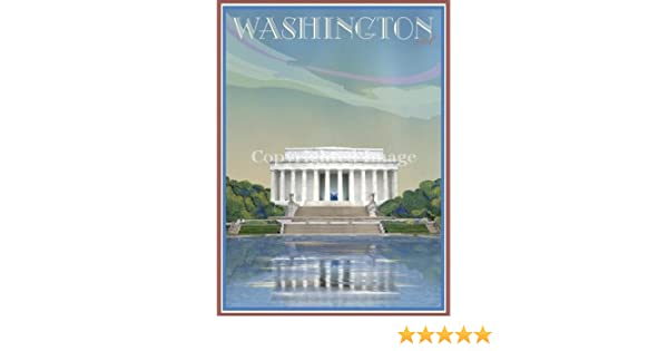 The White House-Washington DC-Vintage Art Deco Style Travel Poster by Grisanty