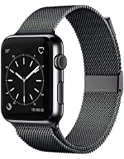 INSKO Compatible with Apple Watch Band 38mm 40mm 42mm 44mm, Stainless Steel Mesh Loop Adjustable Metal Magnetic Strap for Series 6/5/4/3/2/1/SE