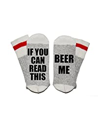 If You Can Read This Beer Me Wool Winter Novelty Crew Socks Unisex