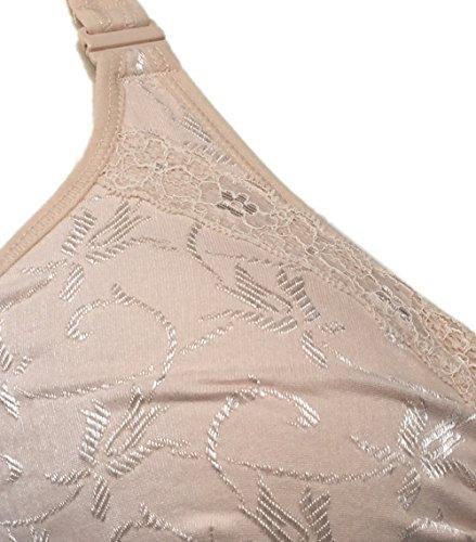 Silicone nbsp; In Rosa Tasca closure Mastectomy Reggiseno nbsp;c 40 Breastforms Bra Underwear8415 36b Beige Per Confortevole Front n0H1qPn