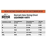 Barmah Hats Sundowner Kangaroo Leather Hat 1019BL / 1019BR / 1019SA - Black - Large