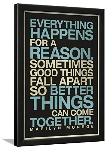 Amazoncom Everything Happens For A Reason Marilyn Monroe Quote