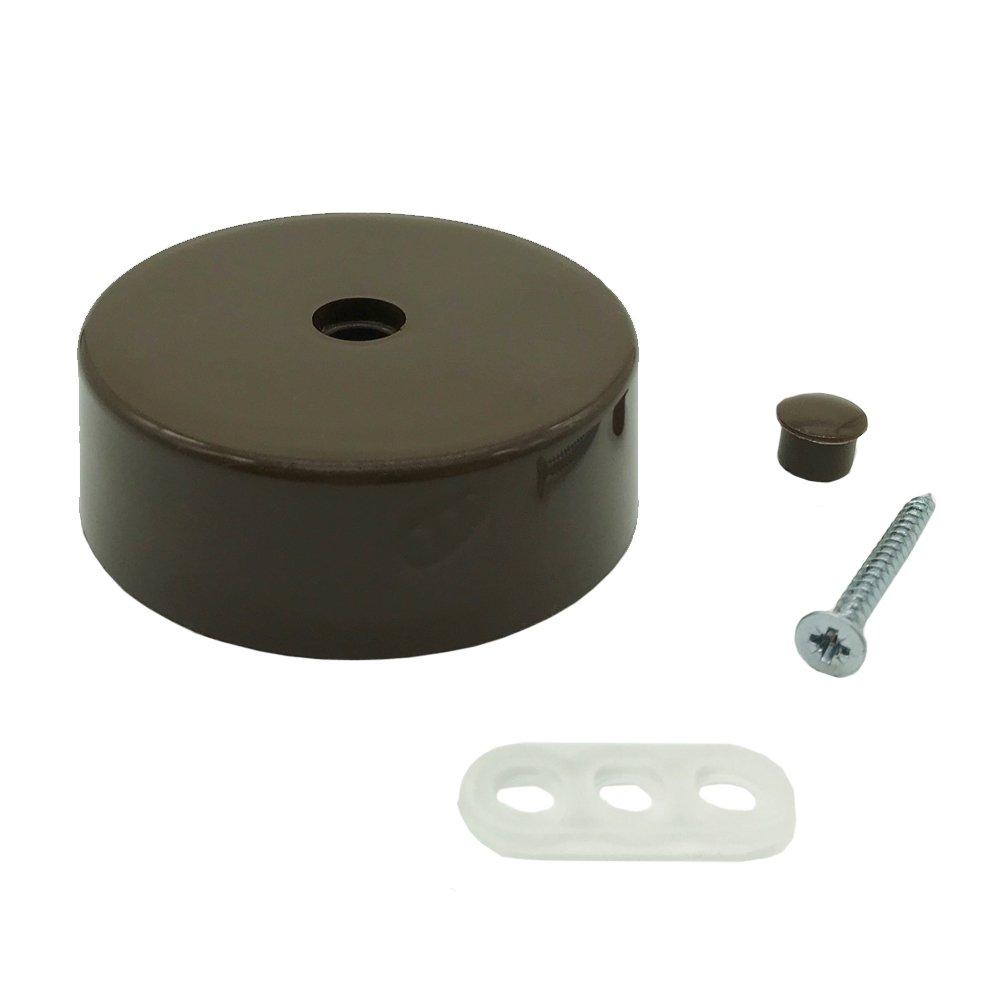 Distribució n de lata marró n plá stico con accesorios Diá metro 74 x 25 mm Caja de conexiones Caja de conexió n conector fiambrera Unbekannt