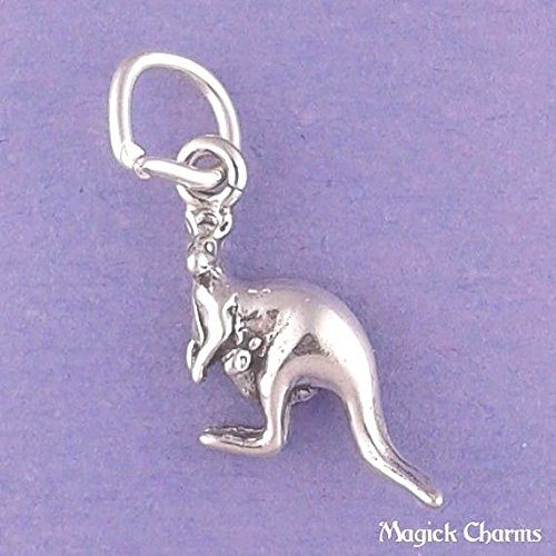 (925 Sterling Silver Kangaroo Charm Miniature Jewelry Making Supply, Pendant, Charms, Bracelet, DIY Crafting by Wholesale Charms)