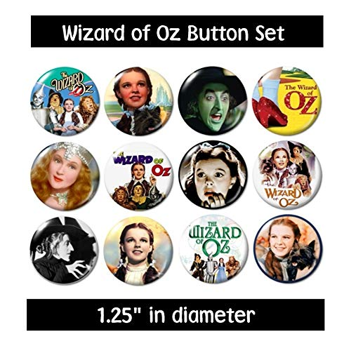 Wizard of Oz Buttons Pins