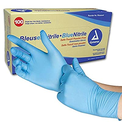 Nitrile Exam Glove (non-latex) Powder Free - Large, Blue (Case of 1000)