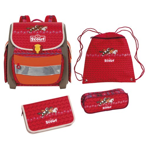 Scout 72400974600 Schulranzen-Set, 40 cm, Rot