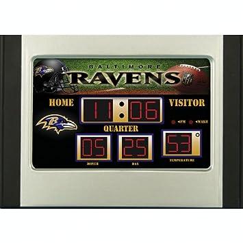 Amazoncom Baltimore Ravens Scoreboard Desk Clock Sports Fan