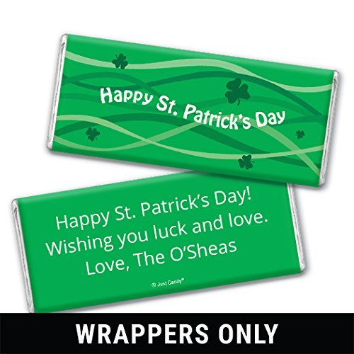 St. Patrick's Day Personalized Chocolate Bar - (Wrappers Only) Ribbons (25 Count)