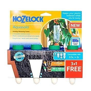 Hozelock regadera de cerámica tamaño mediano conos con plástico verde - Adaptador de tornillo (paquete de 4): Amazon.es: Jardín