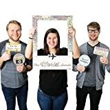 Big Dot of Happiness World Awaits - Travel Themed Party Selfie Photo Booth Picture Frame & Props - Printed on Sturdy Material