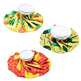 Ice Pack - 3-Pack Reusable Ice Bag, Cold Therapy for Injuries and Pain Relief, 3 Colorful Designs, 3 Sizes