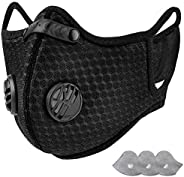 AstroAI Reusable Dust Mask with Filters - Adjustable for Woodworking, Construction, Allergies, Pollen, Outdoor