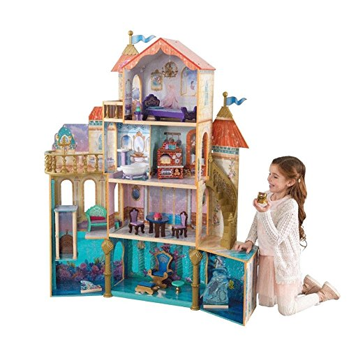 (ALL NEW! KidKraft Ariel Under the Sea Kingdom Dollhouse, Massive 5' Tall Dollhouse featuring 4 Levels with 11 Areas of Play, Perfect Gift for your Princess)
