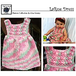 LaRue Dress - Crochet Pattern #107 - Girls Dress 5 Sizes
