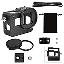 Shoot Protective Shell Aluminium Alloy Metal Case for GoPro Hero 6/Hero 5/Hero(2018)(Black)