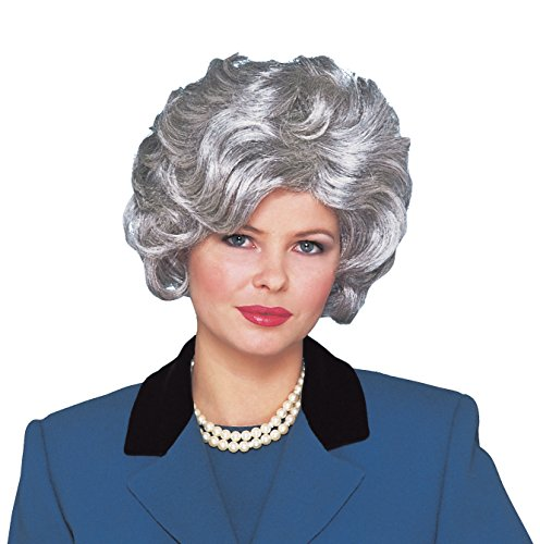 Costume Culture Women's Classy Lady Wig, Silver/Grey, One -