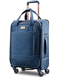 Belle Voyage Softside Luggage with Spinner Wheels, Blue Denim, Carry-On 21-Inch