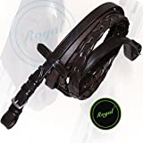 Royal Laced Reins Stainless Steel Buckles | Black | Full