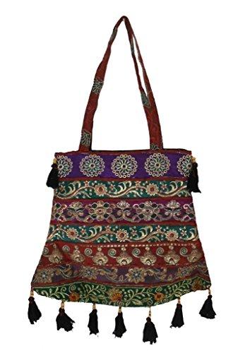 Creations Algodón Bolso Para Cruzados Mujer De Multicolor Kalra dCwqId