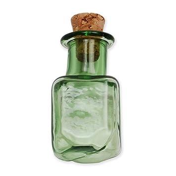10pcs Colorful Mini botellas de cristal pequeñas botellas de vidrio vacías pequeñas botellas al por mayor