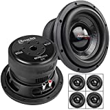 4 Pack American Bass 8' High Power Subwoofer Dual 4 Ohm 600W Max Sub Bass XD-8