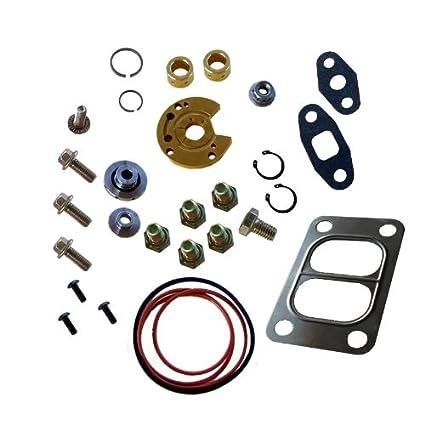 Amazon.com: Turbo Rebuild Kit with Divided Gasket for Garrett T3 T4 T04B T04E Turbocharger 360 Degree Thrust Bearing: Automotive