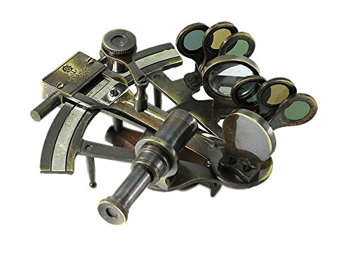 Navel Gifts Antiqued Brass Sextant Kelvin & Hughes ()
