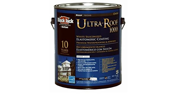 Wonderful Black Jack White Siliconized Elastomeric Roof Coating Acrylic White 1 Gl    House Paint   Amazon.com
