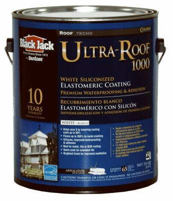 GARDNER-GIBSON 1/20/5530 Black Jack 3.6 Quart Ultra-Roof 1000 10 Year White Siliconized Elastomeric Roof Coating