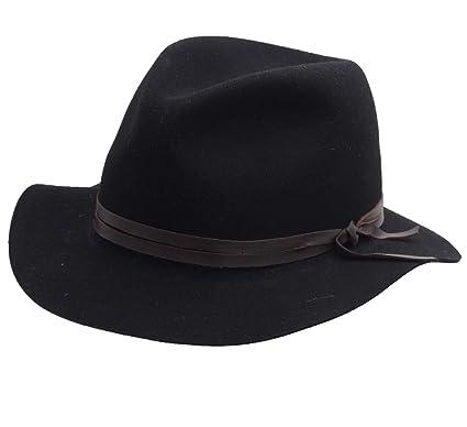 655db4b3895 Bailey of Hollywood OBIE Wool Felt Fedora Hat Packable Size XL Noir ...