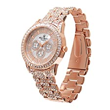 Rose Gold Watch Men Iced Out