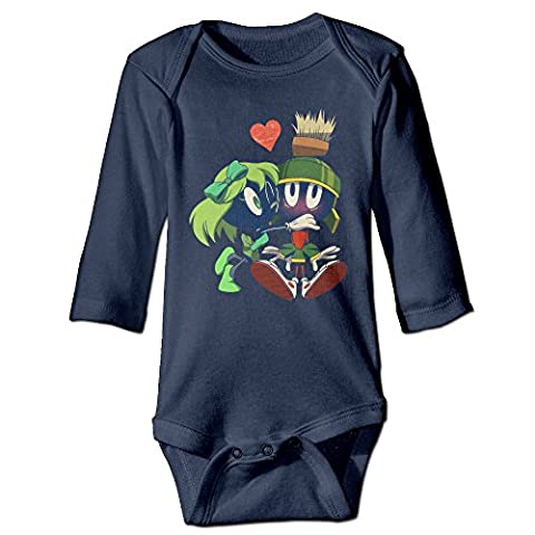HYRONE Marvin The Martian Baby Bodysuit Long Sleeve Romper Suits Size 6 M Navy (Samsung Tab 4 Case Mario)