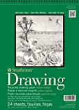 """Strathmore 400 Series Recycled Drawing Pad, Medium Surface, 11""""x14"""" Wire Bound, 24 Sheets"""